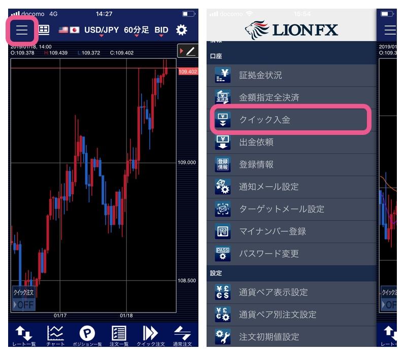 LION FXの入金方法